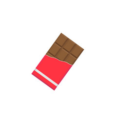 Chocolate bar flat icon food drink elements vector