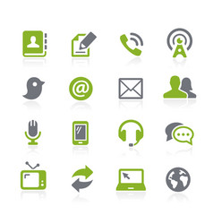 Communications icons natura series vector