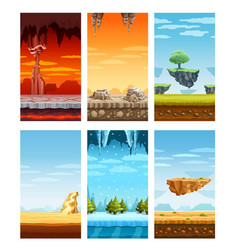 computer games colorful elements cartoon set vector image