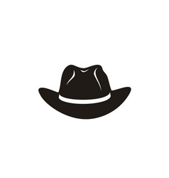 country western cowboy sheriff hat wild west logo vector image