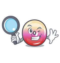 Detective jelly ring candy character cartoon vector