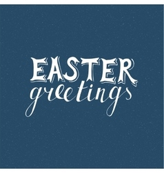 Easter hand drawn lettering vector image