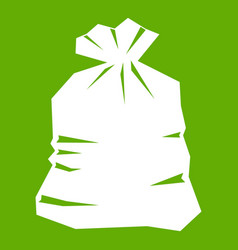 garbage bag icon green vector image