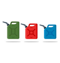 gasoline fuel canister icon petrol can vector image