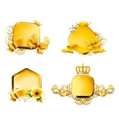 Golden Emblem set vector image