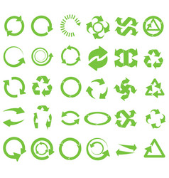 green round recycle vector image