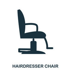 hairdresser chair icon flat style icon design ui vector image