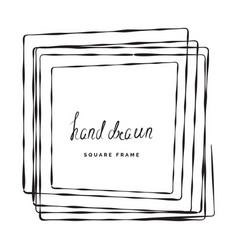 hand drawn square frame vector image