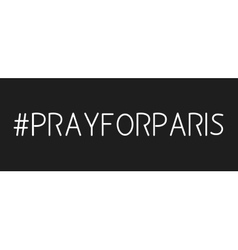 Hashtag in prayer about paris vector