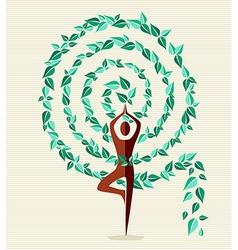 India yoga leaf tree vector