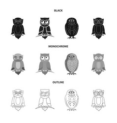 Isolated object animal and tattoo logo vector