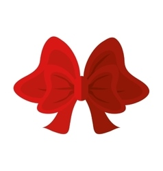 Isolated red bowtie design vector