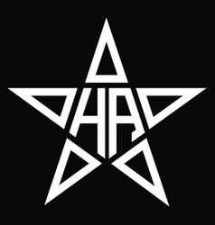 Logo monogram with star shape design template vector