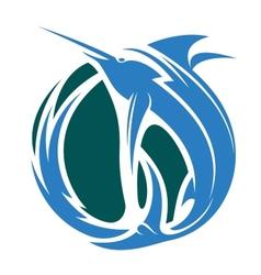 Marlin fishing icon vector
