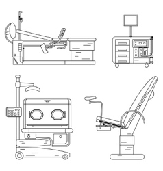 medical equipment set Obstetrics And Gynecology vector image