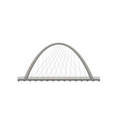 metal bridge on white background vector image