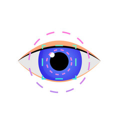 modern iris scan eye security system for business vector image