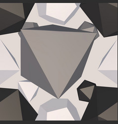 modern polygon structure decoration vector image