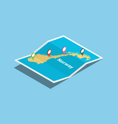 norway explore maps country nation with isometric vector image