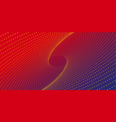 oval smooth smooth pattern of many dots on red vector image