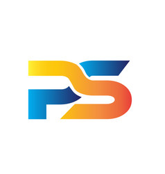 P s simple modern logo designs vector