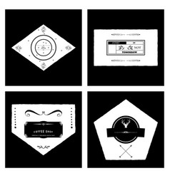 Retro vintage insignias or logotypes set with vector