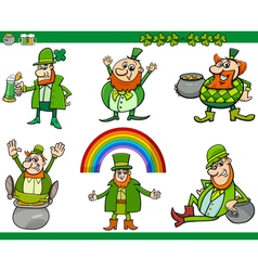 saint patrick day cartoon set vector image