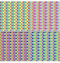 set of colorful patterns vector image