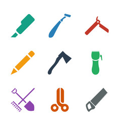 sharp icons vector image