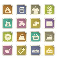 Shop icons set vector