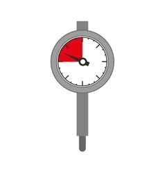 silhouette gray micrometer with gauge needle vector image