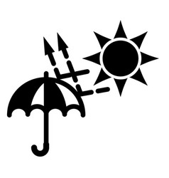 simple black and white sun uva uvb protection vector image