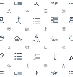 site icons pattern seamless white background vector image