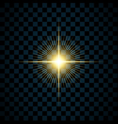 sparkle gold star isolated transparent background vector image