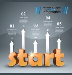 Start 3d business infographics vector