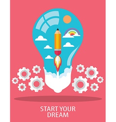 START YOUR DREAM vector