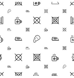 steam icons pattern seamless white background vector image