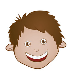 Sticker face boy icon vector
