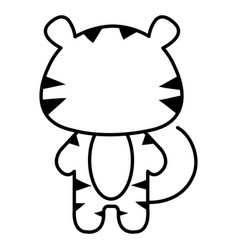 Stuffed animal tiger vector