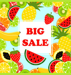 summer banner big sale vector image