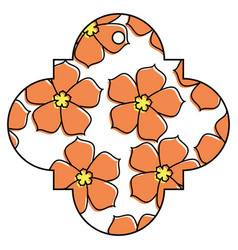 tag chinese flower sakura decoration icon vector image