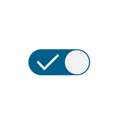 touch button check mark touch button yes or no vector image