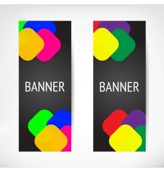 Vertical black web banners vector