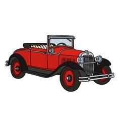 Vintage roadster vector
