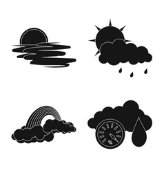 Weather and climate logo vector