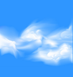 White sparse cloud over blue sky vector