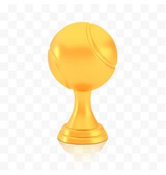 Winner tennis cup award golden trophy logo vector
