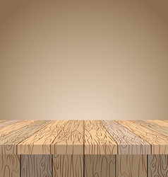 Wooden table Wooden surface Wood texture Planks of vector image