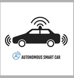 autonomous smart car icon design vector image vector image