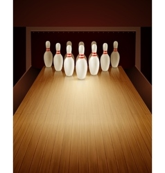 Bowling Game Realistic vector image